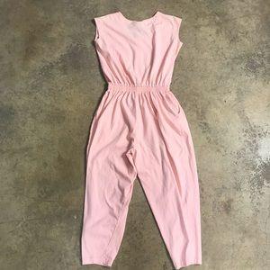 Vintage Pants - 80s Oakbrook Peach Casual Lounge Jumpsuit